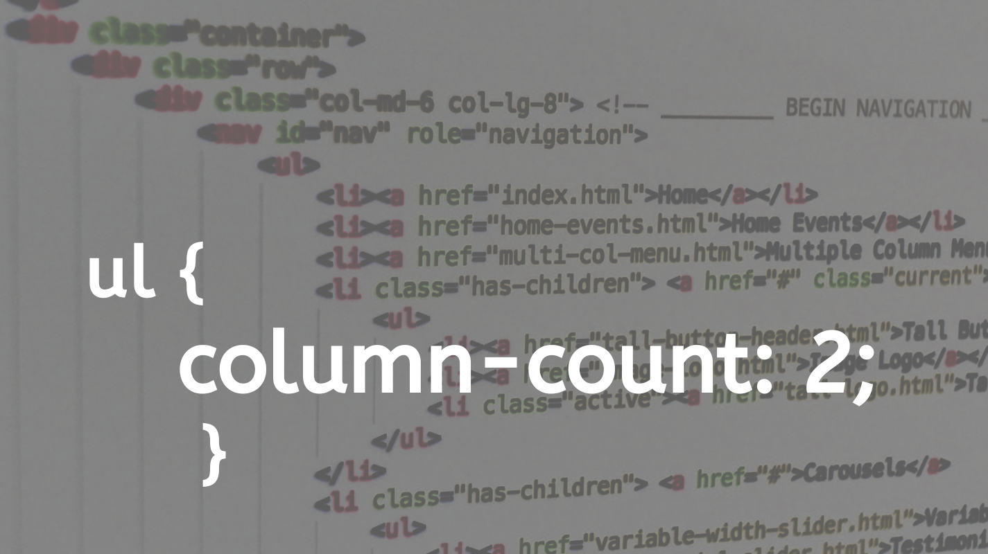 Multi-column HTML list