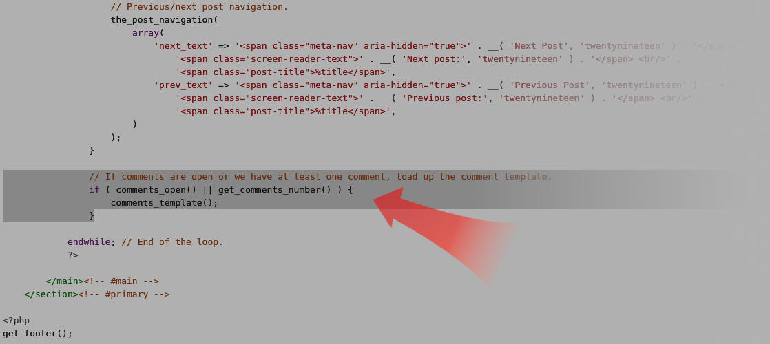 Disable comments in WordPress Nineteen theme