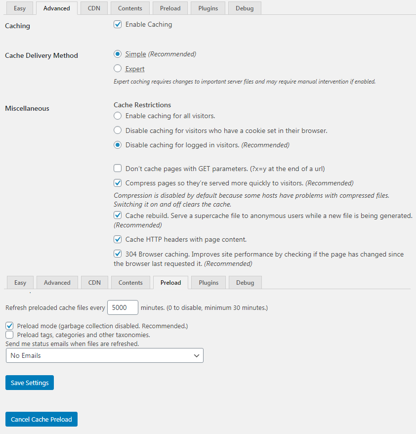 Speed up WordPress websites with WP Super Cache plugin
