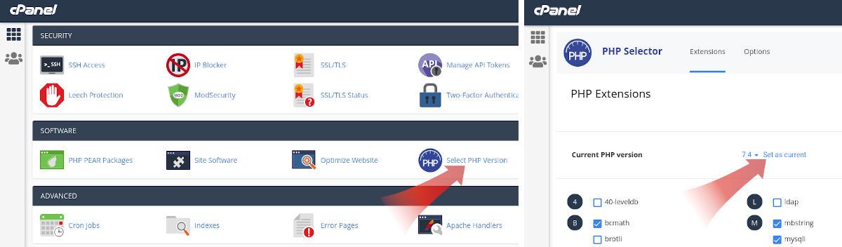 Installing WordPress 2: Updating PHP Version