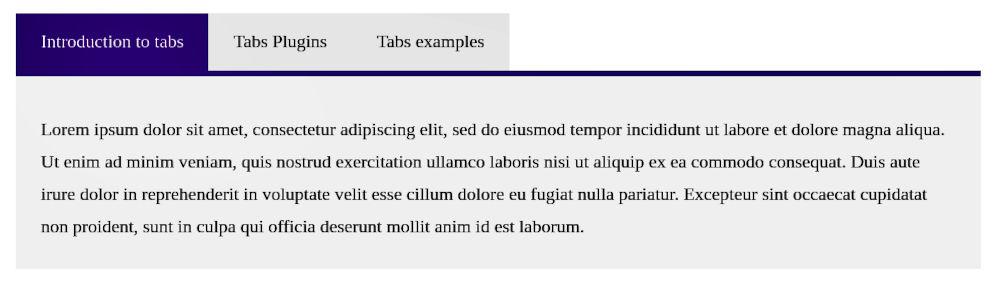 WordPress Tabs Plugin Example